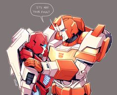 """Ratchet and Red Alert """"It's not your fault..."""""""