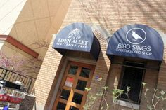 Here's the Eden Alley Vegetarian Cafe on the Country Club Plaza in Kansas City!  Luke and I made this a must-stop while minimooning in KC the weekend after our wedding.  Great food!