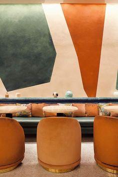 Dessert customer with Pierre Hermé - Esszimmer - Restaurant Home Design, Modern Interior Design, Interior Design Inspiration, Web Design, Design Ideas, Interior Architecture, Bar Interior, Brewery Interior, Interior Concept