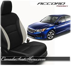 2013 - 2015 Honda Accord Custom Leather Interior - Customize Yours Today at canadaseatskins.com  #honda #accord #leatherseats #automotiveupholstery