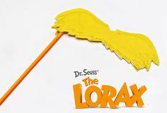 Lorax Mustache on a Stick; will use heavy cOnstruction paper and striped straws