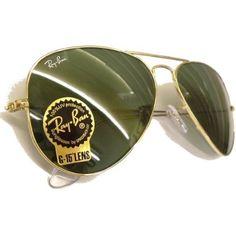 Ray Ban Sunglasses Aviator Large Metal RB3025 L0205 Arista/Crystal Green, 58mm $93.99
