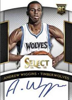14-15 Panini Select Autograph Example with Andrew Wiggins