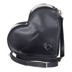 Black Heart Satchel designed by Agyness Deyn for Dr Martens. Sac Doc Martens, Dr. Martens, Doc Martens Black, Leather Backpack, Leather Bag, Dr Martens Store, Agyness Deyn, Art Beat, Black Purses