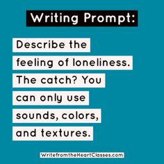 Writing prompt inspiration poetry loneliness writer author d Poem Writing Prompts, Poetry Prompts, Creative Writing Prompts, Writing Words, Writing Poetry, Fiction Writing, Writing Skills, Writing A Book, Writing Tips