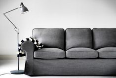 #Ektorp Gray Sofa from #IKEA | @covercouch