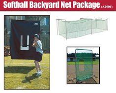 JUGS Softball Backyard Net Package - http://www.learnbatting.com/baseball-equipment-deals/jugs-softball-backyard-net-package-5/