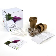 Funky Veg Kit by Plant Theatre – 5 Extraordinary Vegetables to Grow Eating Vegetables, Growing Vegetables, Plant Theatre, Wine Purse, Tea Infuser, Kit, Loose Leaf Tea, Grow Your Own, The Balm