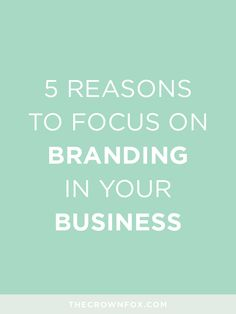 Branding for your business, whether it be online, a huge corporation, a small mom and pop shop, an Etsy shop, or just a vague distant idea is extremely, immeasu