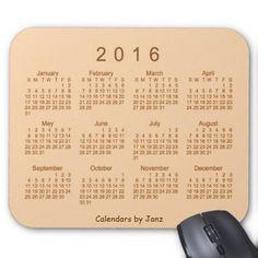 Desert Sand 2016 Calendar by Janz Mousepad