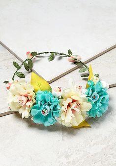 Plus Size Clothing | Turquoise Flower Headpiece | Debshops.com