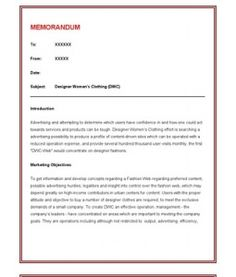 How To Format A Professional Memo  Business