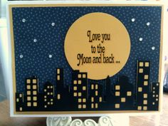 IC485: To the Moon by Precious Kitty - Cards and Paper Crafts at Splitcoaststampers