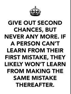 Deserve a second chance