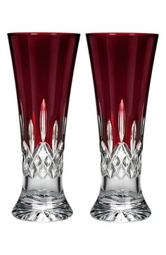 Waterford 'Lismore Red' Lead Crystal Pilsner Glasses (Set of 2) available at #Nordstrom