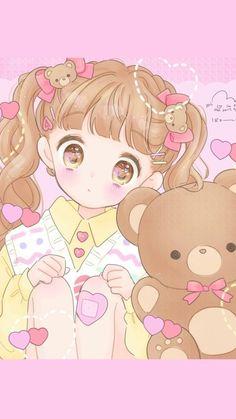 Fashion drawing girl illustrations ideas for 2019 Kawaii Chibi, Cute Chibi, Kawaii Anime Girl, Anime Art Girl, Arte Do Kawaii, Kawaii Art, Kawaii Drawings, Cute Drawings, Kawaii Wallpaper