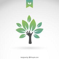 Зеленый эко дерево Бесплатные векторы