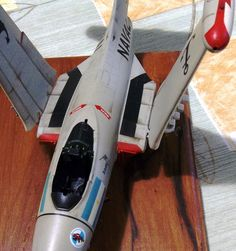 """A close up from 1/48 SCALE Grumman F9F2B Panther .This is my modest aproximation to Armada Argentina first jet engined aircraft. Still some bits are needed to enhance the model, and of course the transparent parts are to be painted next. Excellent decals """"Aerocalcas"""" from the TALENTED HANDS of the late comrade A. Serra have been used,Alejandro gone but not forgotten!"""