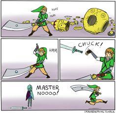 My thoughts exactly when I pick gigantic swords up. Skyward Sword, Zelda Skyward, Legend Of Zelda Memes, Fanart, Pokemon, Hyrule Warriors, Wind Waker, Gifs, Twilight Princess