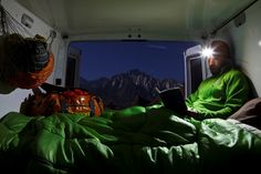 Car camping by a hot spring. Sierra Nevada, California. Photo: Jeff Johnson