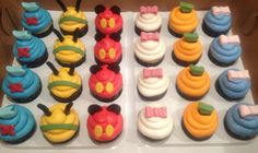 Mickey Mouse Clubhouse Cupcakes with fondant character toppers http://CW-Cakes.com