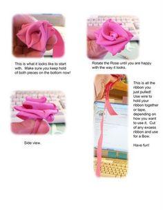 Folded Ribbon Roses Tutorial