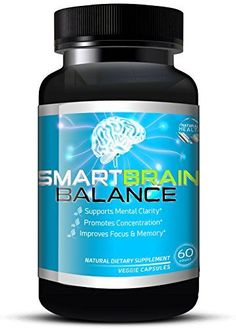 Brain Booster by Smart Brain Balance Natural Memory Enhancing Supplement  Brain Pills W Ginko Biloba Ginseng  St Johns Wort Relieve Stress and Anxiety  60 Veggie Capsules >>> Visit the image link more details.