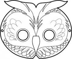 Lovely Owl Mask Template   Google Search