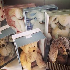 How gorgeous are our little friends- who all come beautifully boxed in their own little home xx #shop3280 #teddies #rabbits #bears #babyshower #babygift #comforters by loveleelittleones
