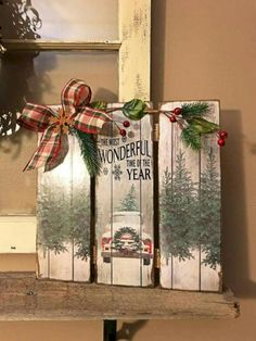 Pallet christmas projects amazing pallet projects to decorate your halls . Christmas Wood Crafts, Pallet Christmas, Outdoor Christmas Decorations, Christmas Signs, Rustic Christmas, Christmas Projects, Christmas Home, Holiday Crafts, Christmas Holidays