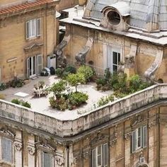 Private Parisian rooftop