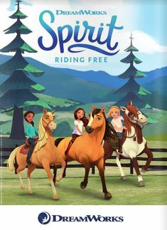 Spirit Riding Free (Netflix-March 16, 2018) Season 4- an animated children's series. In a small Western town, spunky ex-city girl Lucky forms a tight bond with wild horse Spirit while having adventures with best pals Pru and Abigail.  Voice Stars: Amber Frank, Sydney Park, Bailey Gambertoglio