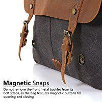 16226a521294d Lifewit Vintage Messenger Bag Umhängetasche Aktentasche Schultertasche 14  Zoll Laptoptasche Notebooktasche aus Canvas und Leder Schwarz