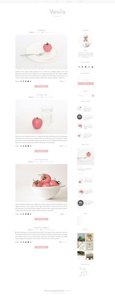 Responsive Premade Blogger Template Clean by VefioThemes on Etsy