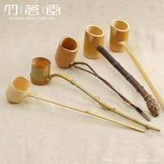 bamboo wine spoons