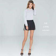 Short con un toque de brillo con un elegante suéter de Okeysi #Nochevieja2014 #tendencias #Moda #Navidad2014
