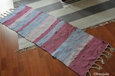 Teppich aus alter Bettwäsche / Rug made from old bed linen / Upcycling
