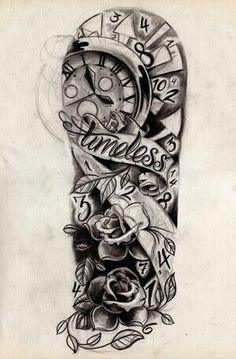 Another cool half sleeve. I wonder if you could use this design to make an Alice in Wonderland tattoo.
