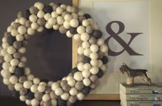 Winter's Wreath - plus tutorial on making your own felted balls