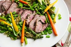 Roast Lamb Shoulder with Spring Vegetables by nytimes #Lamb #Vegetables