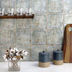 "Ivy Hill Tile Angela Harris Harbour Sedan Décor 8"" x 8"" Ceramic Field Tile & Reviews | Wayfair"