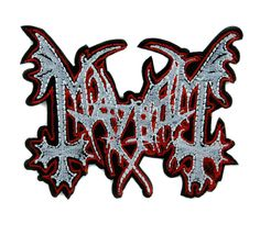 Mayhem Norwegian Black Metal Patch Iron on Applique Alternative Clothing Heavy Music  #hat #deathrock #blackmetal #gamerclothing #horror