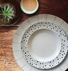 Hand painted  plates by #azarraluqui instagram @azarraluqui
