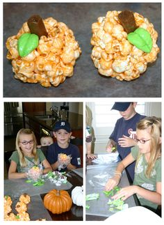 pumpkin popcorn balls – Bee In Our Bonnet Jello Popcorn, Marshmallow Popcorn, Candy Popcorn, Popcorn Balls, Peanut Butter Popcorn, Creamy Peanut Butter, Orange Jello, Corn Pops, Orange Recipes