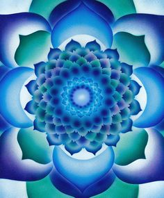 blue greens Mandala