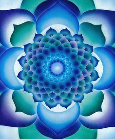blue greens Mandala                                                                                                                                                                                 Más