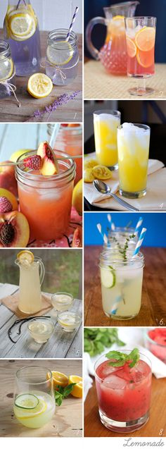 Lemonade and homemade refreshers  non-alcoholic cocktails