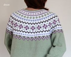 ~GNIST~: Gitte-kofta nr 2 Fair Isle Knitting Patterns, Sweater Knitting Patterns, Crochet Patterns, Style Norvégien, Drops Lima, Fair Isle Chart, Nordic Sweater, Icelandic Sweaters, Fair Isles