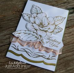 With a bow on top: Just Add Ink - Just Add Inspiration - Good Morning Magnolia Stamping Up Cards, Rubber Stamping, Stampinup, Stampin Up Catalog, Get Well Cards, Sympathy Cards, Greeting Cards, Flower Cards, Homemade Cards