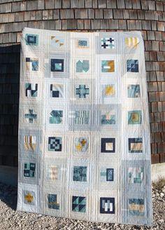 Luna Lovequilts - Modern sampler quilt - Inspired by Tula Pink City sampler